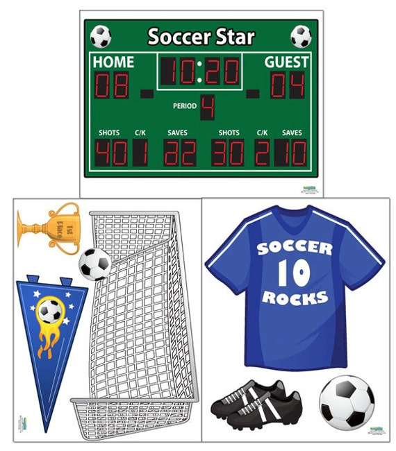 Soccer Wall Decals Boys Room Decor