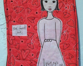 Stitched Wall Art - She Found Love