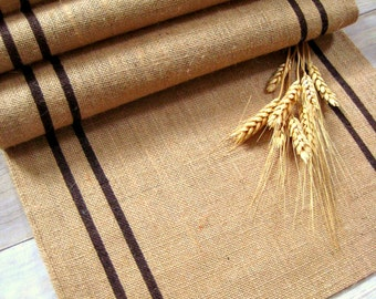 Burlap Table Runner / Thanksgiving Runner / Autumn table runner/ Thanksgiving decor / Grainsack Table Runner / Rustic Table Runner