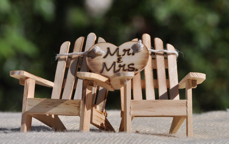 Cake Topper Adirondack Chairs Beach Wedding Cottage