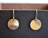 SALE .  GOLD DISCS  earrings