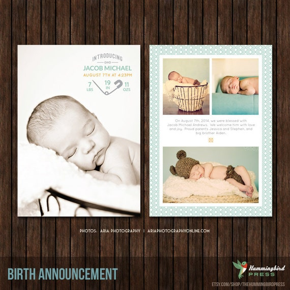 5x7 birth announcement template b33. Black Bedroom Furniture Sets. Home Design Ideas