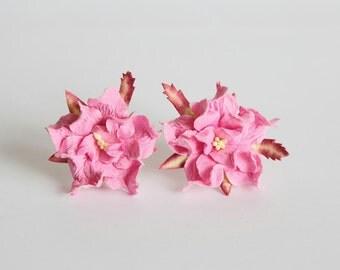 10 pcs - 4 cm Pink gardenia flower
