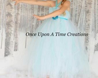 Winter Wonderland Princess Tutu Dress - Birthday Outfit, Photo Prop, Halloween Costume - Girls Size 6 12 18 Months  2T 3T 4T 5T 6 7 8 10 12