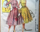 1950's McCall's Misses Dress with or without sleeves pattern - Bust 36 - No. 3719