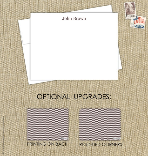Personalized Papers Executive Stationery: Personalized Men's Stationery. Executive By Brownpaperstudios