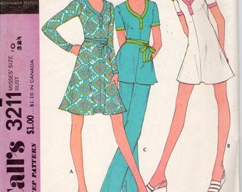 vintage McCall's 3211 sewing pattern // Misses' Dress or Tunic and Pants
