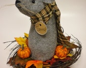 Harvest Mouse, Primitive Mice, Fall Thanksgiving Home Decorations