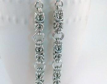 Elegant Byzantine Chainmaille Earrings