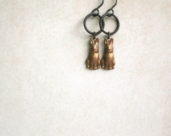 Rabbit Hole Earrings by Nancelpancel on Etsy