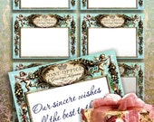 GREETING TELEGRAM - Printable Download Digital Collage Sheet Journaling ChikUna Art Paper Craft Scrapbook, Shabby Chic, Wish List