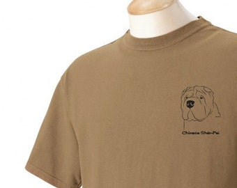 Chinese Shar-Pei Garment Dyed Cotton T-shirt