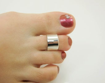 Sterling Silver Toe Ring - Wide Toe Ring - Super Wide Toe Ring - Extra Wide Toe Ring - Toe Cuff - Midi Ring - Wide Midi Ring