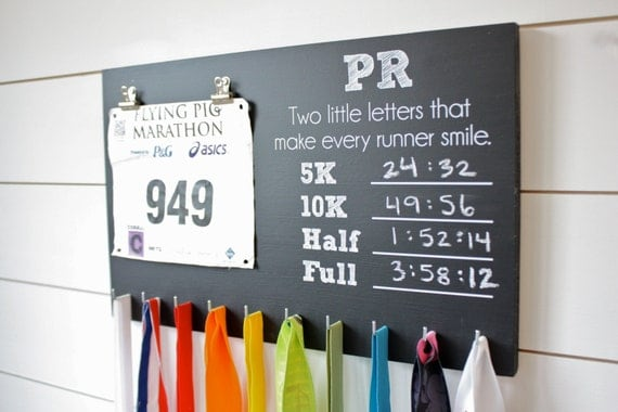 pr Chalkboard Race Bib And