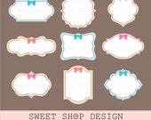 Label or Tag Clip Art, Frames Clip Art, Royalty Free Clip Art, Instant Download