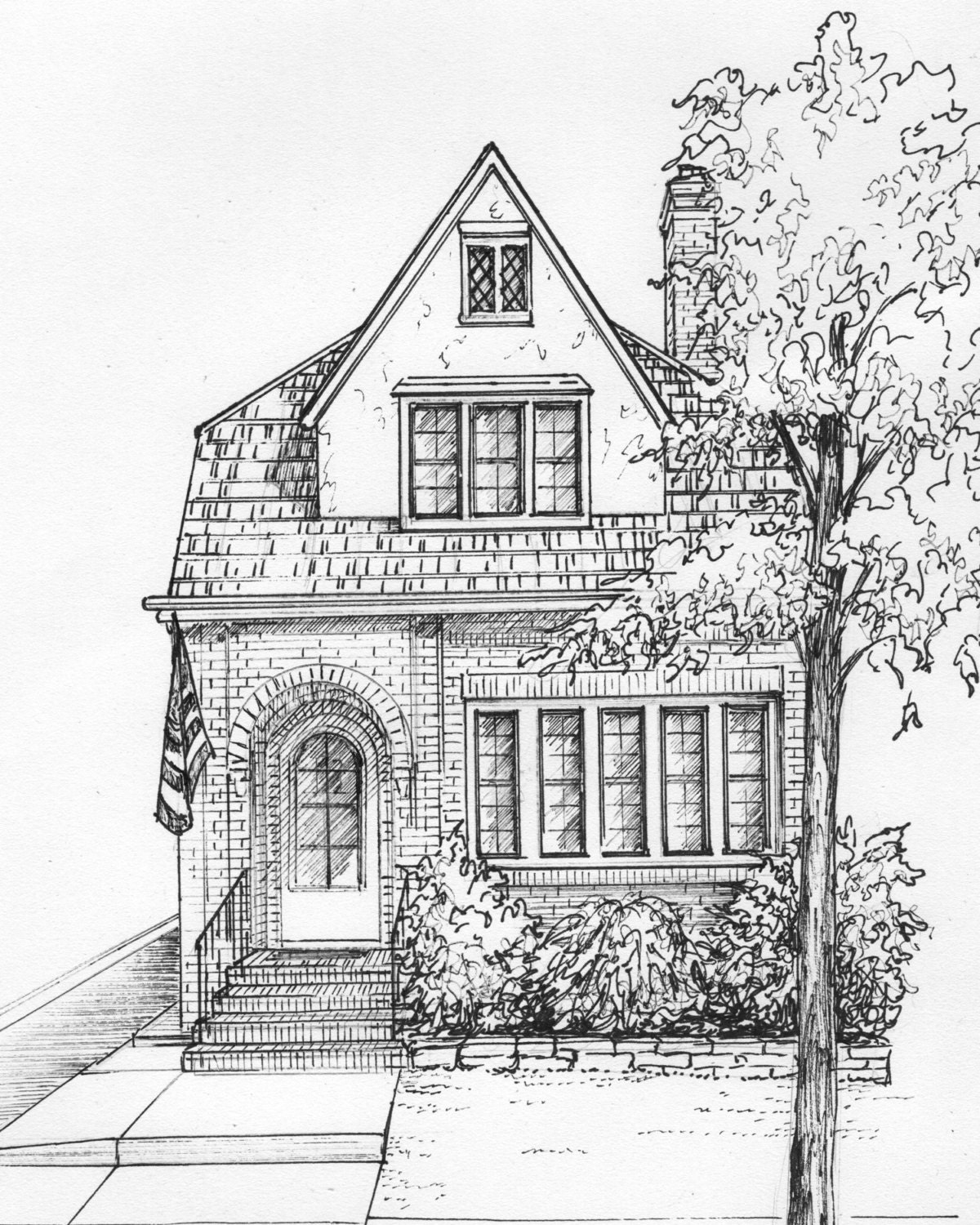 Architectural drawn houses for House sketches from photos