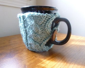 Hand knit tea/coffee cup cozy