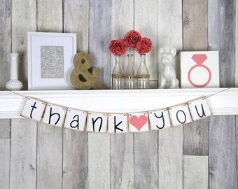 Thank You Banner, Thank you Wedding Sign, Wedding Thank you, Fuchsia Wedding