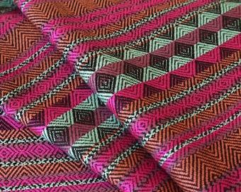 Aztec Fabric, Peruvian Fabric, Woven, Chava Berry, 2 Yards