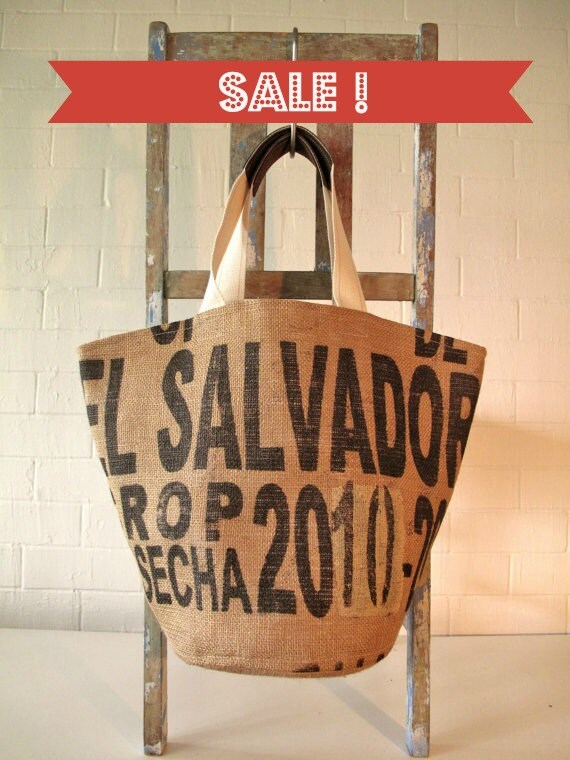 Splendid Love Market bag 50% off - Upcycled coffee sack tote