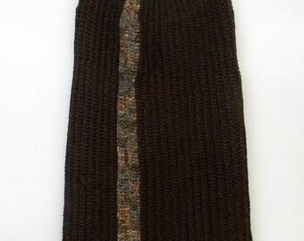 XS S M Extra Small Medium Vintage Brown Fall Autumn Colors Handmade Crochet Indie Boho Hippie Indie Alternative Sweater Dress