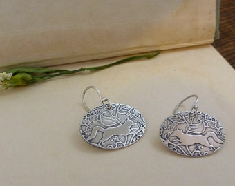fox earrings | fox and butterfly jewelry | forest earrings | Fox and Butterfly earrings