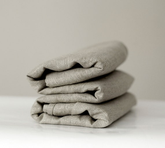 Linen tablecloth for wedding - party table decorating - rustic farmhouse table decor - gray linens - grey - 57x98   0231