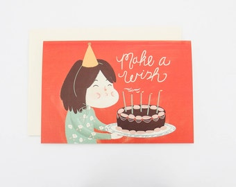 Birthday card - Greeting Card - Note Card - Cards - Ecofriendly