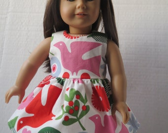Pretty Colorful Holiday Party Dress for American Girl Doll 18 Inch