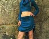 Mini Skirt-Adjustable Skirt-short skirt-Women's Clothing-Summer skirt-Goddess clothes-Yoga Skirt-Pixie Fairy Skirt-Sexy Skirt-Cotton mini