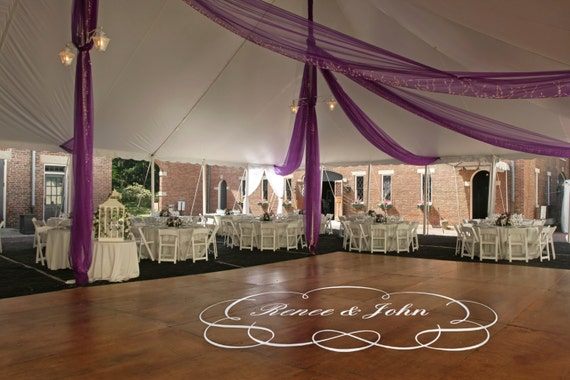 Personalized Wedding Floor Decal by danadecals