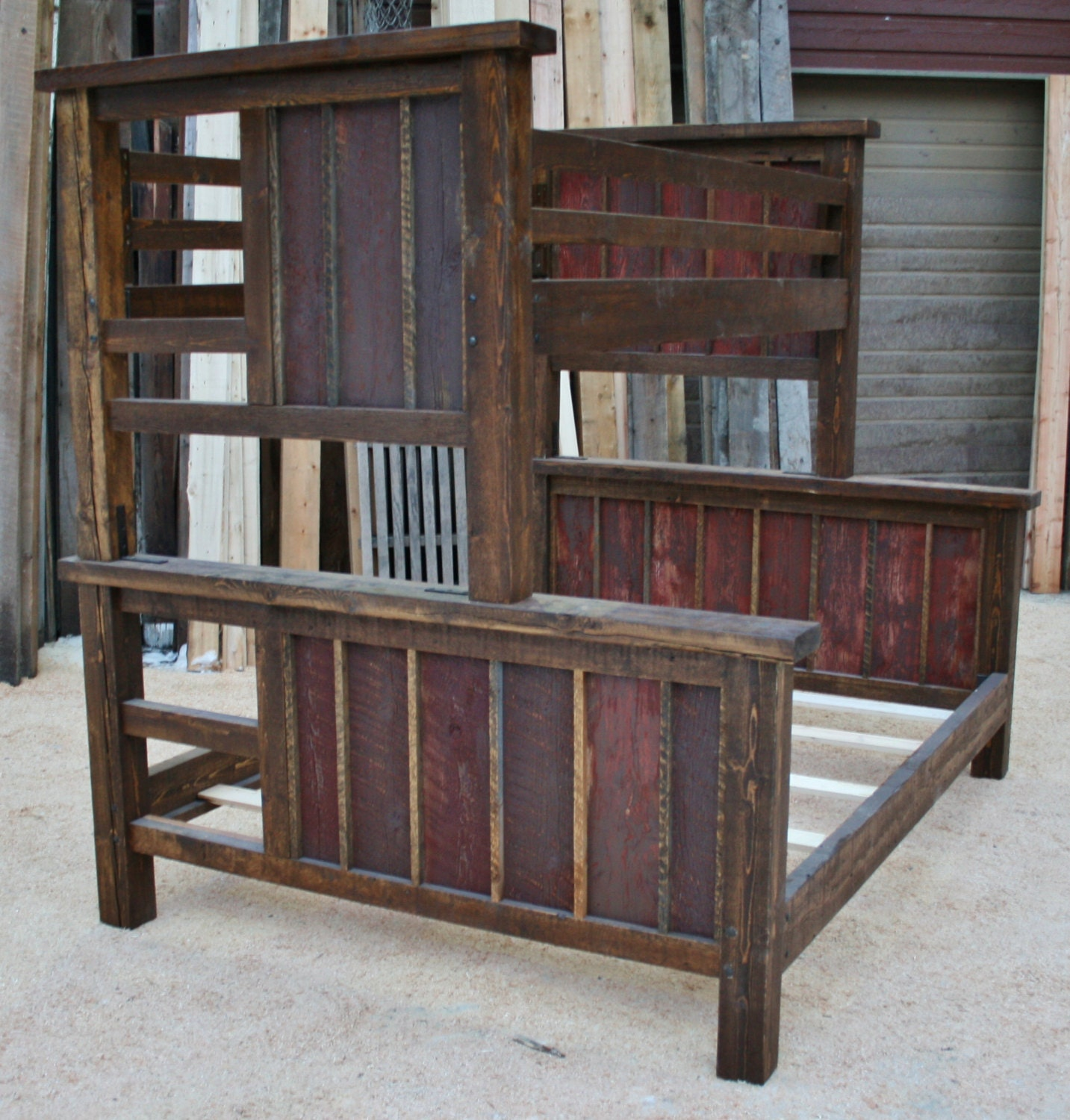 Final 50 On Reclaimed Rustic Bunk Bed For Aaron By