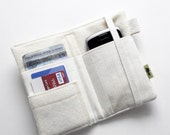 Unbleached cotton canvas iphone wallet natural wallet eco friendly wallet iphone 5 wallet plain wallet environmentally friendly wallet