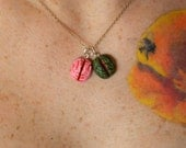 Brain or zombie brain pendant your choice of one