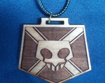 Bleach Substitue  Shinigami Badge Wooden Necklace on cord