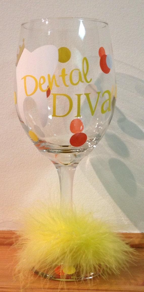Dental Diva Sunshine Wine Glass
