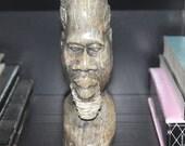Antique Mid Century African Shona Carving, African Verdite Tribal Bust Tribal, African Bust, Tribal Decor, Antique Alchemy