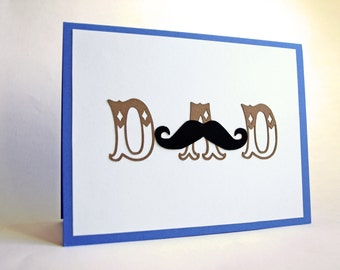 mustachioed father's day card