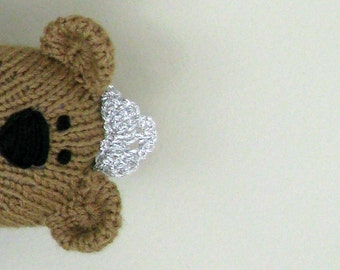 Hand Knit Bear Princess -  Plush Doll - Small Toy-  Knitted Toy - Child Toy - Stuffed Doll - Kids Toys - Girl Teddy Bear -  Knit Toy Alexa
