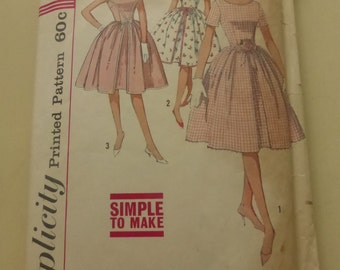 Vintage Simplicity Pattern 4343 Junior Dress Size 13