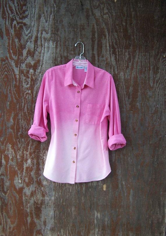 Pink Oxford Shirt Pink Chambray Shirt Dip Dye