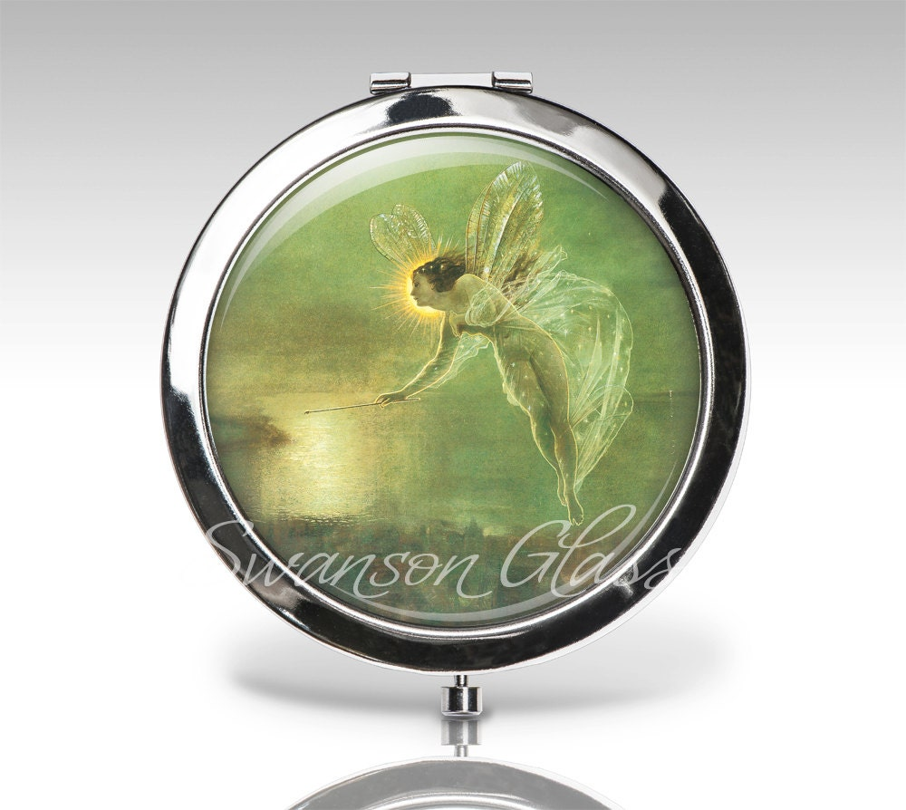personalized compact mirror fairy angel magnifying mirror. Black Bedroom Furniture Sets. Home Design Ideas
