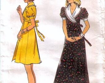Teen Tween Girl Empire Waist Wrap Dress and Maxi Dress With Shawl Collar Butterick 3675 Size 11/12