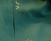 Vintage Army Green Wool Gabardine 2 + yards