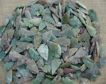 10 stone arrowheads reproduction light colors arrowheads points arts,crafts,necklaces,earrings,wire wrapping,scrapbooking, projects crafting