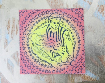 Blotter Art / The Star Man by Unknown Artist / Perforated Print