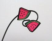 Watermelon Hair Clip, Shoe Charm, alligator clip