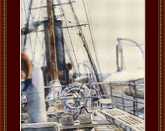 On The Deck Cross Stitch Pattern