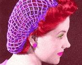 Vintage 1940s Stylish Simple Snood 414 PDF Digital Crochet Pattern
