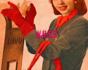 Vintage 1940s Fascinator Hat & Barrel Bag 853 PDF Digital Crochet Pattern